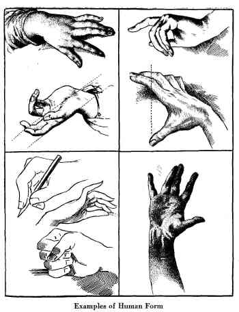 how to draw hands. Art Drawing Made Easy, D. M. Campana