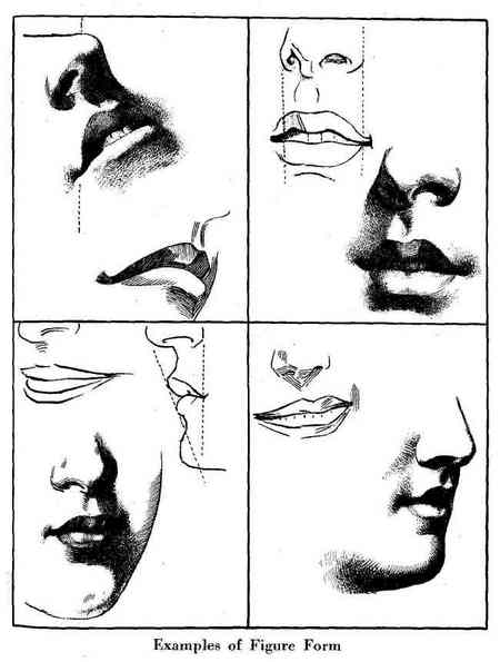 how to draw mouths